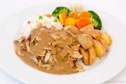 Fillet Steak in Mushroom Sauce